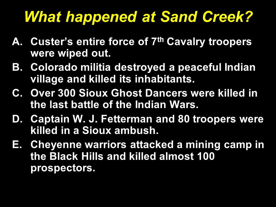 What happened at Sand Creek