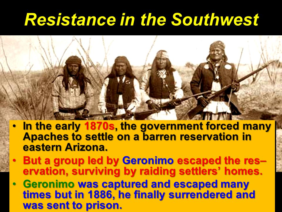 Resistance in the Southwest