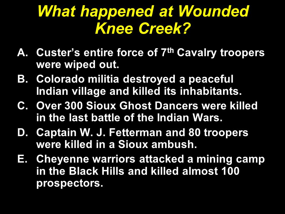 What happened at Wounded Knee Creek