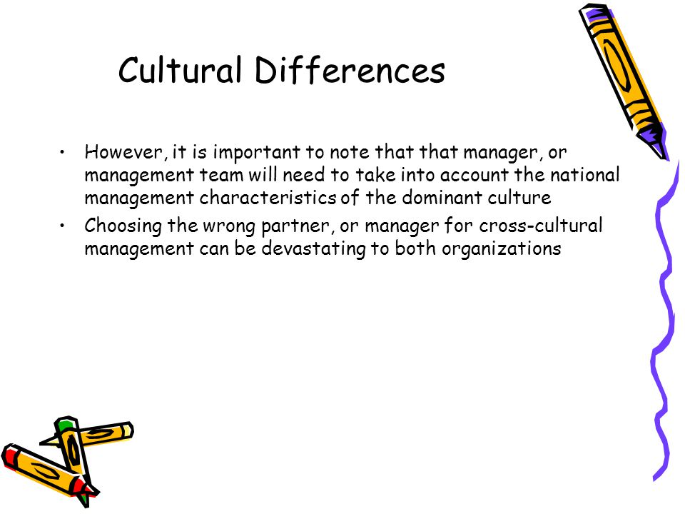 national cultural differences important to managers Start studying cross cultural management chapter 2 learn vocabulary, terms, and more with flashcards, games, and other study tools  an important factor which influences cultural values is the socioeconomic development within a country  cultural dimension aim to identify differences between national cultures.