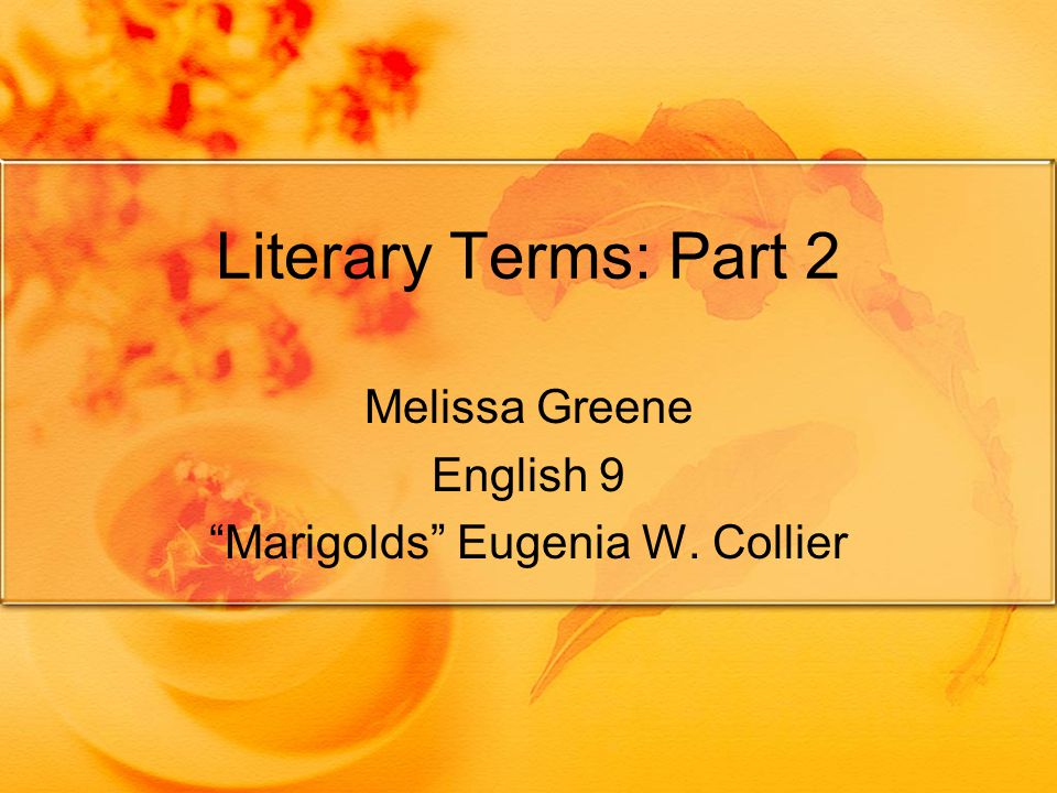 marigolds by eugenia collier theme