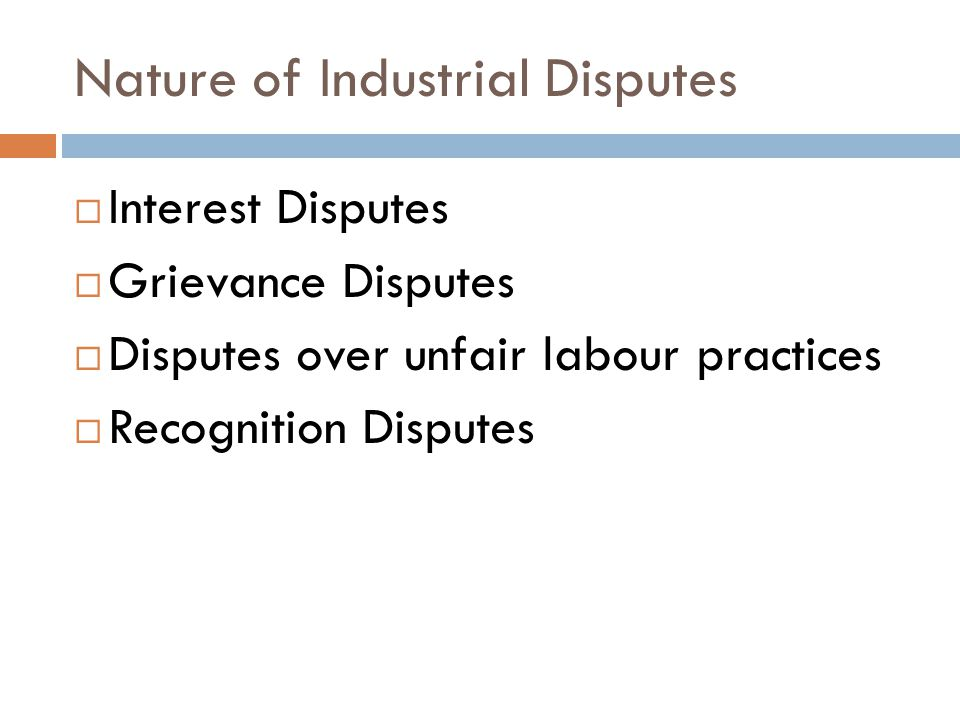 causes of industrial disputes in bangladesh The rmg sector of bangladesh has experienced disputes and violent protest   garment industry in bangladesh is facing multidimensional  there are some  important causes that reduce productivity in the garment sector.