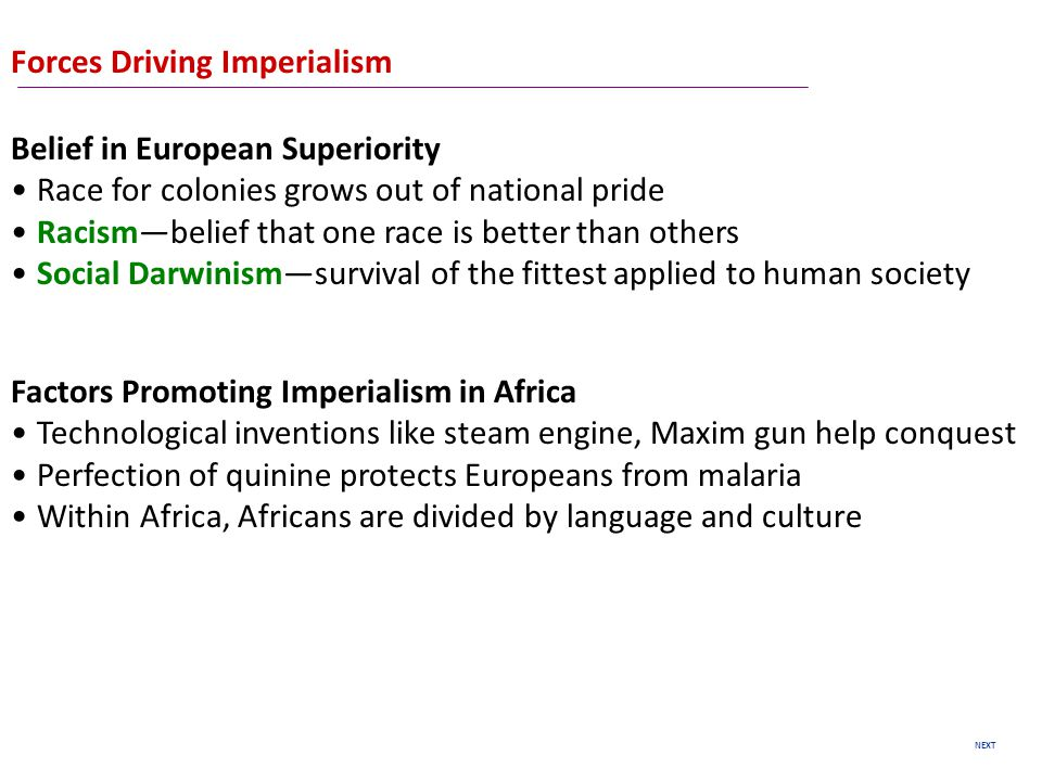 the driving force of european imperialism What was the driving force behind european imperialism in africa andres lugo professor william hendricks march 17, 2015 world civilizations ii domination of resources the european powers that were in much need for resources during the 1500s through 1800s were great britain, france and germany.