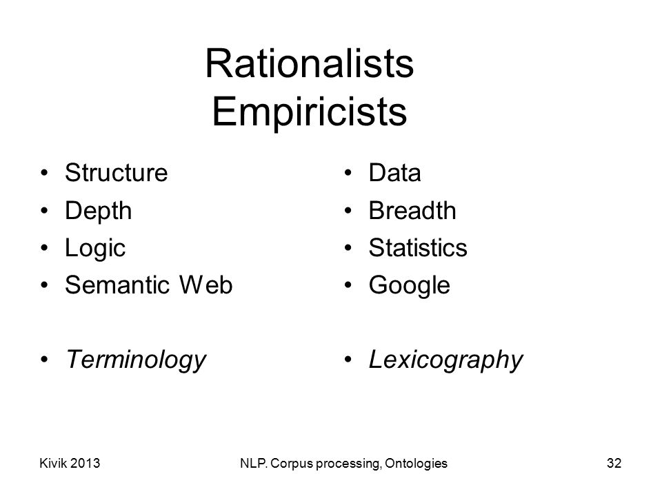 rationalist ontology An interesting aspect of kant's use of the rationalism/empiricism distinction  this  epistemological divide gave rise to an ontological divide.