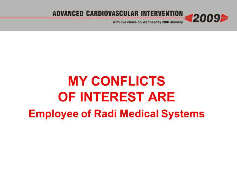 Employee of Radi Medical Systems