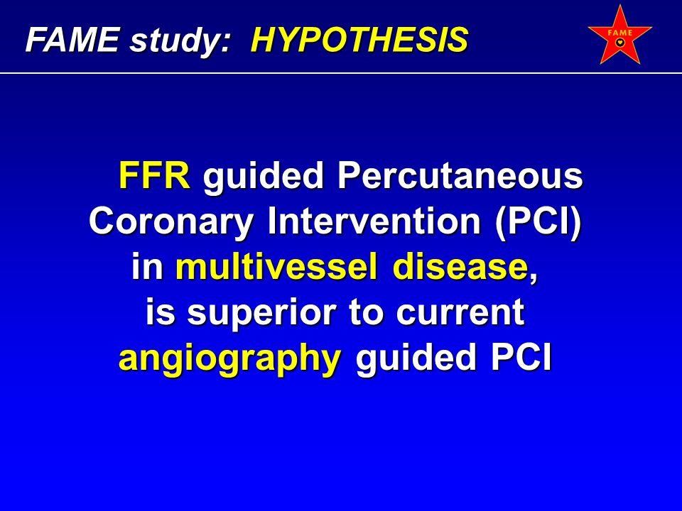 FFR guided Percutaneous Coronary Intervention (PCI)