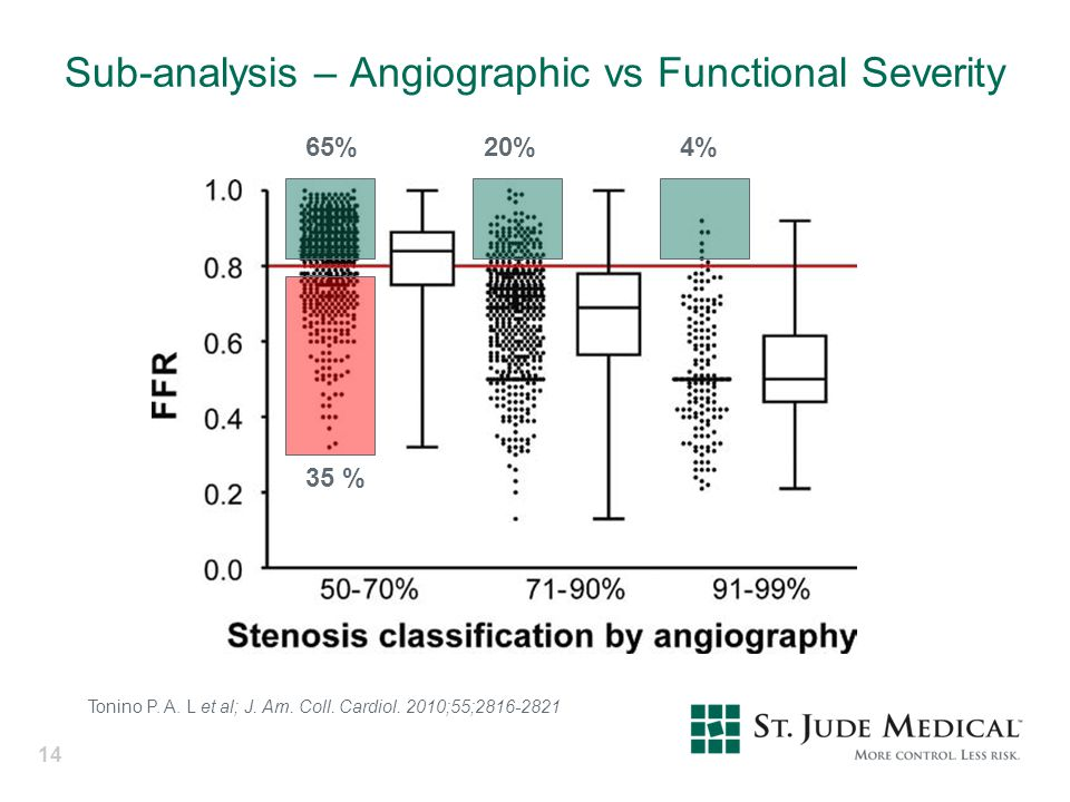Sub-analysis – Angiographic vs Functional Severity