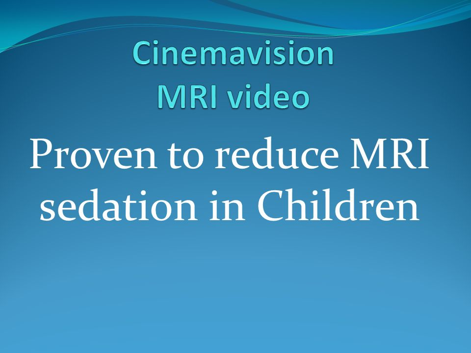 Cinemavision MRI video