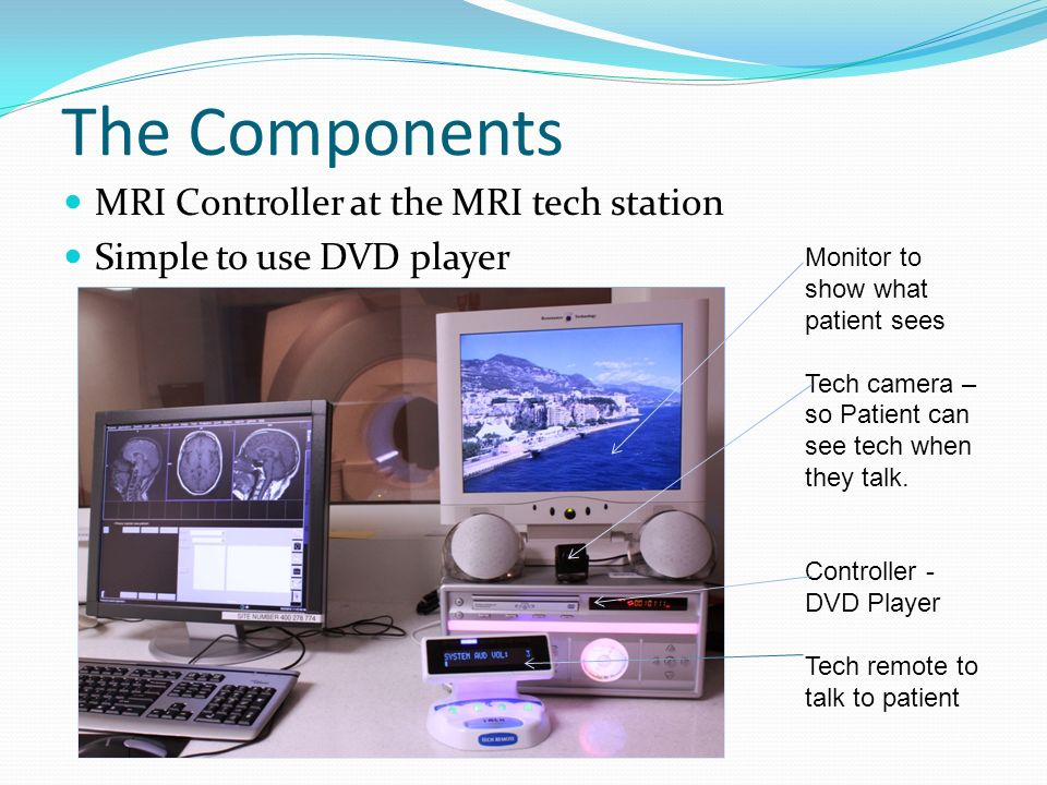 The Components MRI Controller at the MRI tech station