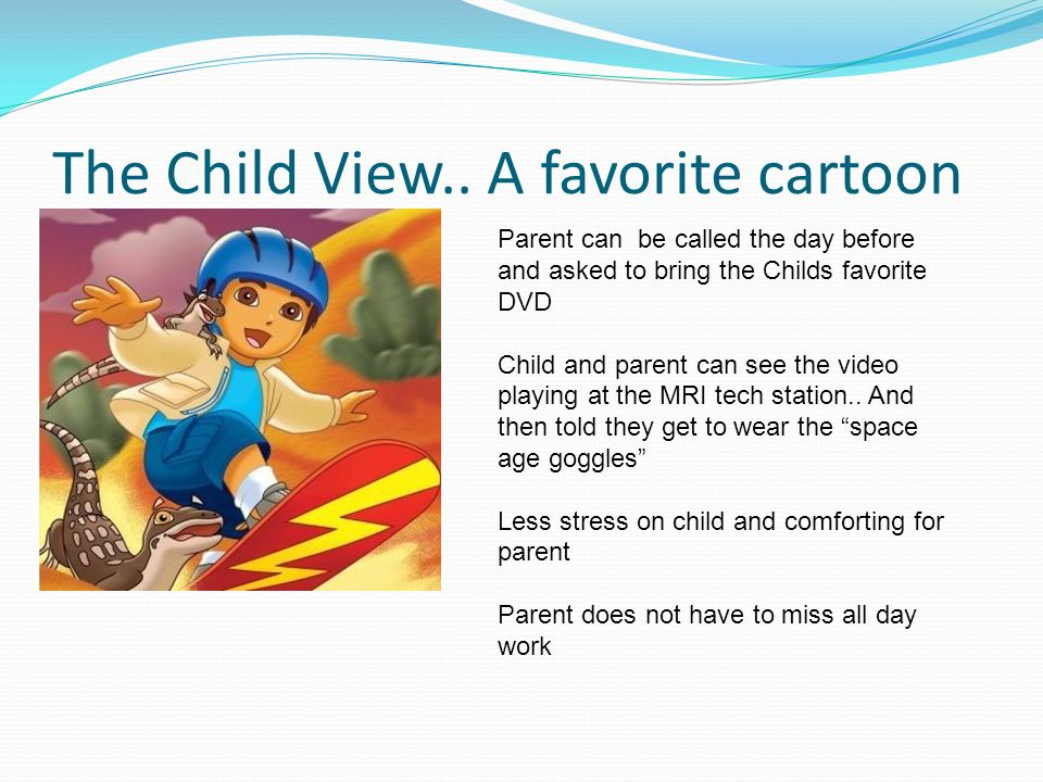 The Child View.. A favorite cartoon