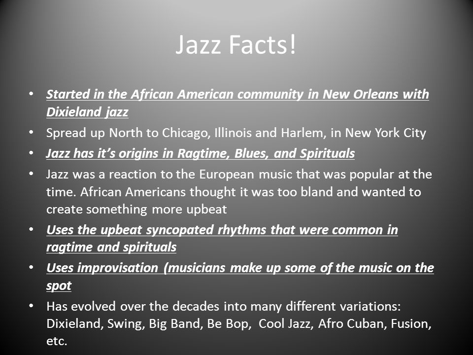 ragtime and blues influence on jazz The evolution of ragtime & blues to jazz the gradual development from pure negro music to the type that became popularly known as ragtime can be traced in a line from the influence and diffusion of.