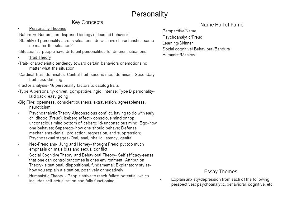 dispositional personalities essay Describe how dispositional theories affect individual personalities order this essay here now and get a discount.