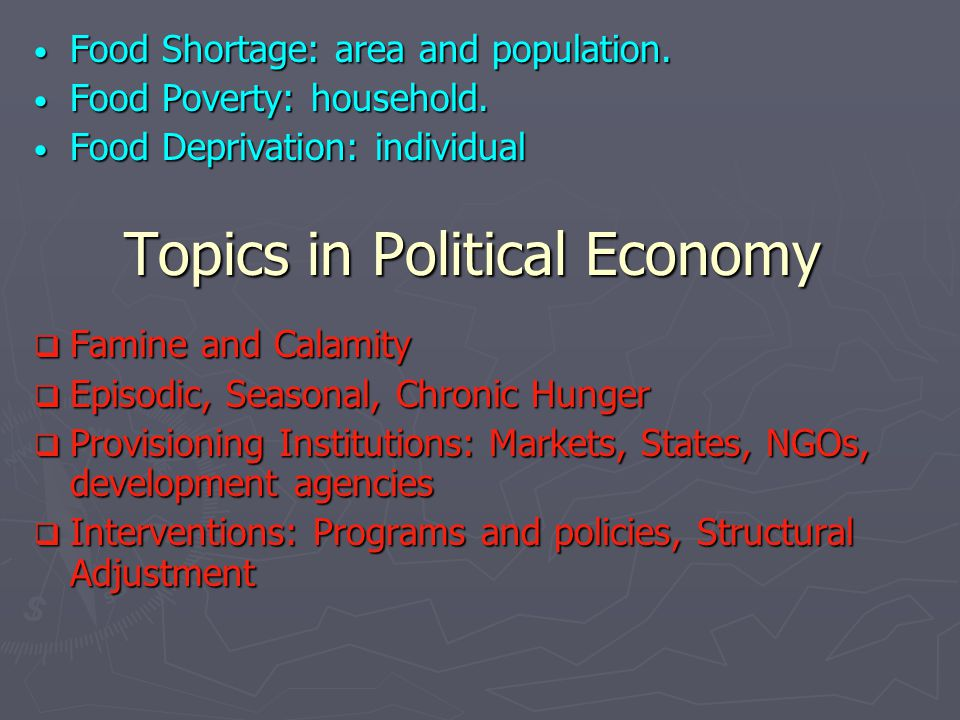 political economy of poverty Political economy approach improve our effectiveness as development partners   in zambia access to electricity is a binding constraint on growth and poverty.