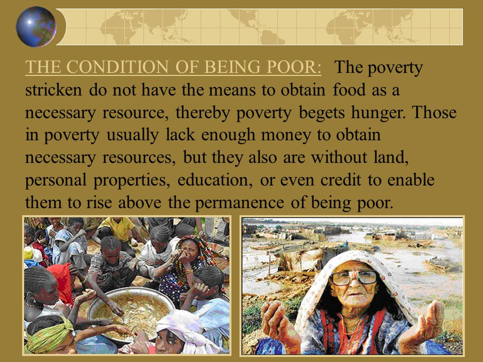 Hunger and world poverty essay