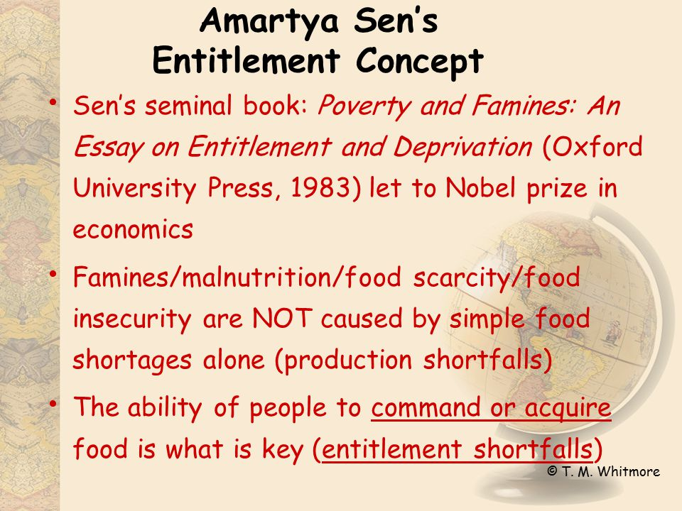 "today the ""entitlement"" concept geographical model of hunger ppt  2 amartya sen s entitlement concept"