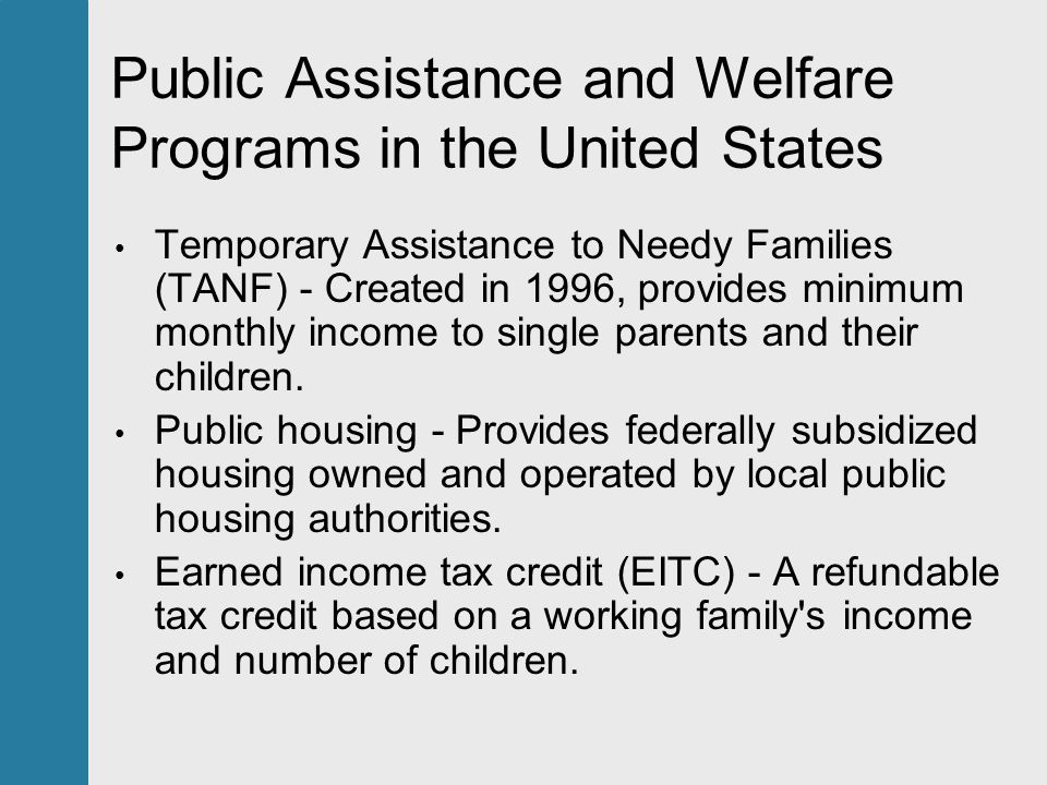 a debate on welfare in the united states Need-based assistance in the us — such as women, infants and children  in  any debate of welfare, you'll often hear stories of the welfare.