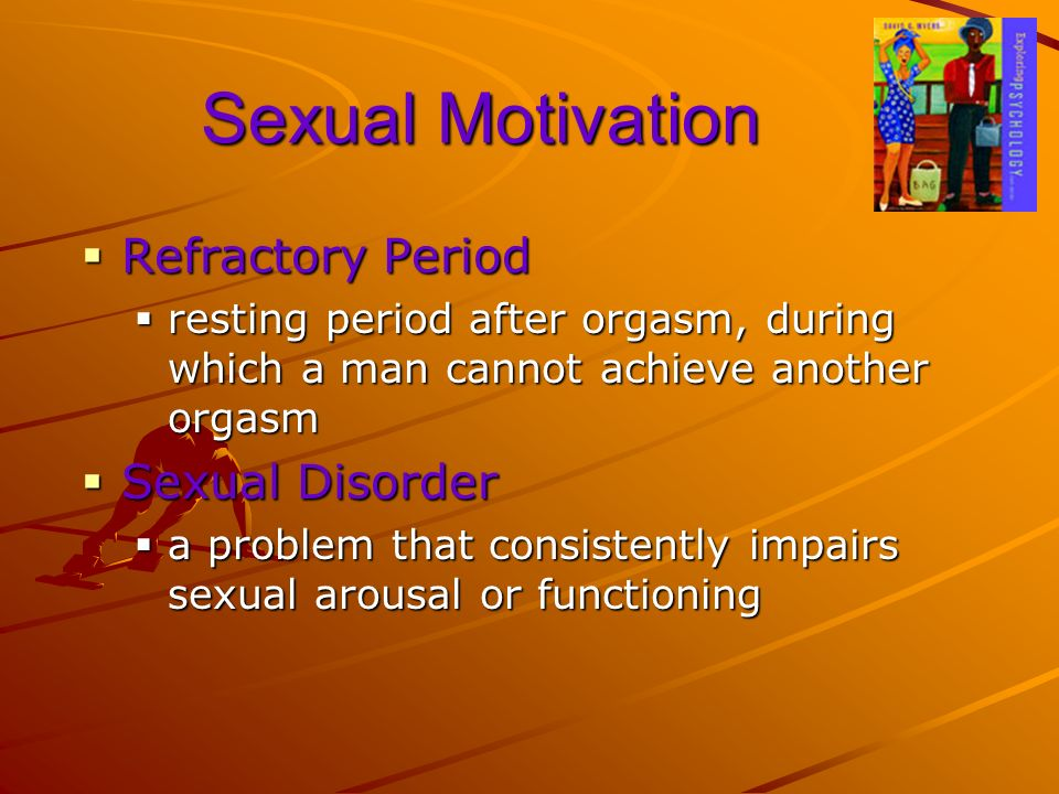 Sexual Motivation Refractory Period Sexual Disorder