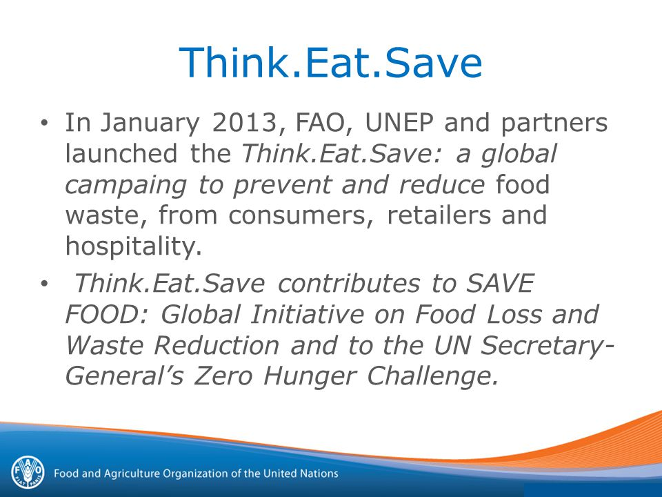 Think eat save essay