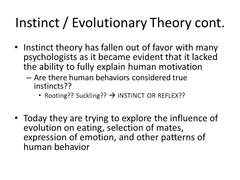 Evolutionary theory and aggression