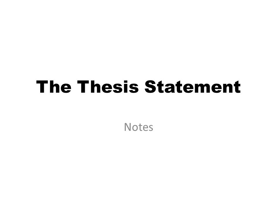 Thesis theme notes