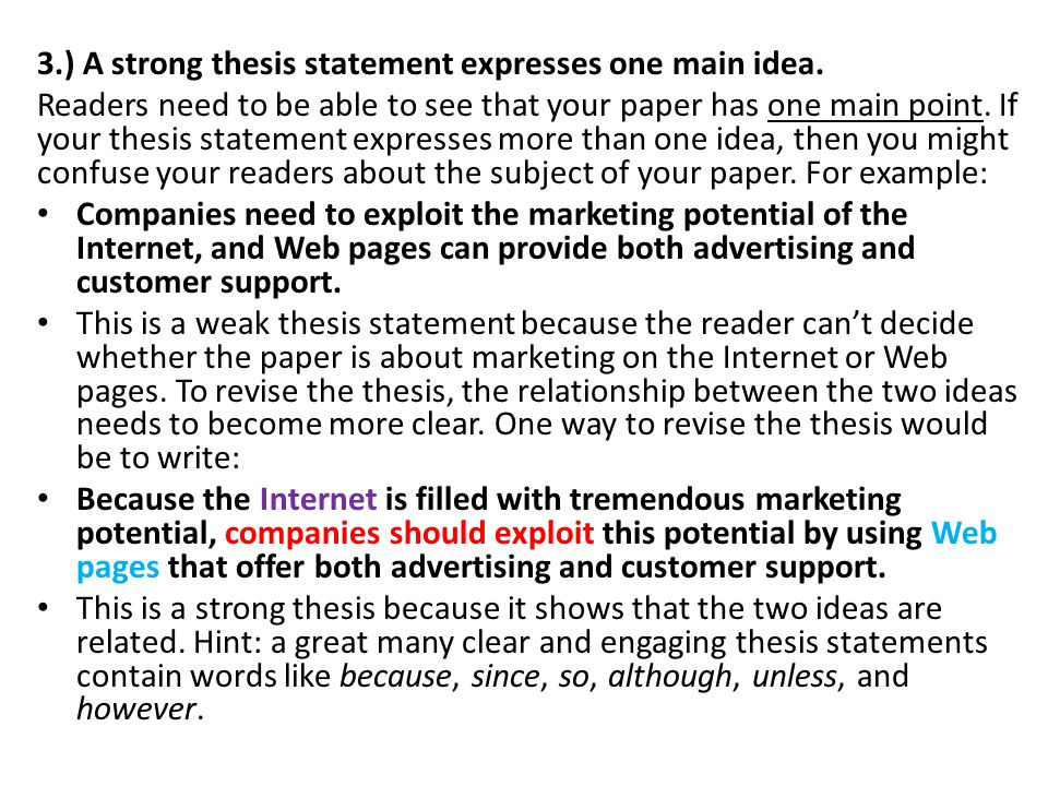 Make a thesis statement for me online