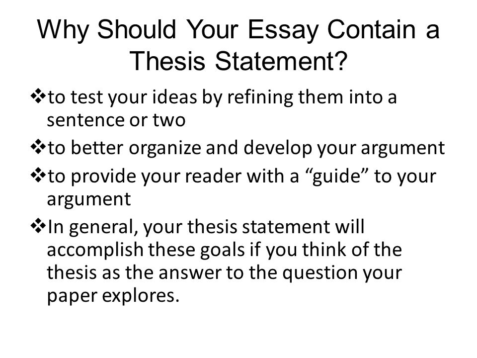 What Is A Synthesis Essay Why Should Your Essay Contain A Thesis Statement Ap English Essays also Essays On Different Topics In English The Thesis Statement Notes  Ppt Video Online Download The Thesis Statement Of An Essay Must Be