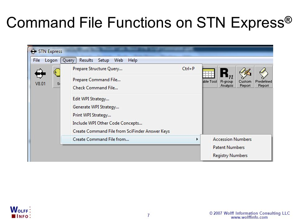 Command File Functions on STN Express®