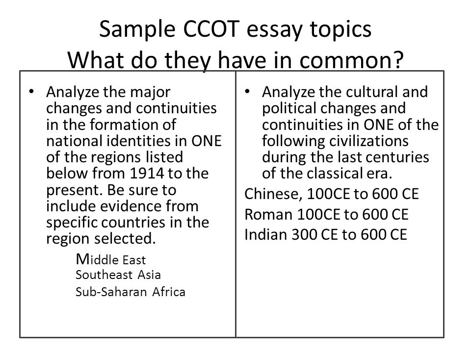 unit essay ancient civilizations ccot ppt video online  7 sample ccot essay