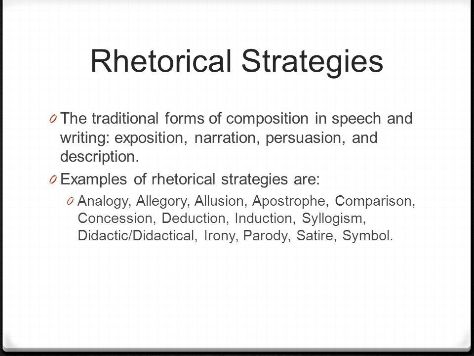 persuasive essay rhetorical strategies This essay explains the term rhetoric analysis and expounds its meaning by considering rhetoric strategies such as the aristotelian appeals the essay also elaborates.