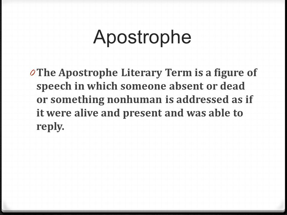 Apostrophe figure of speech definition for Meaning of terrace in english