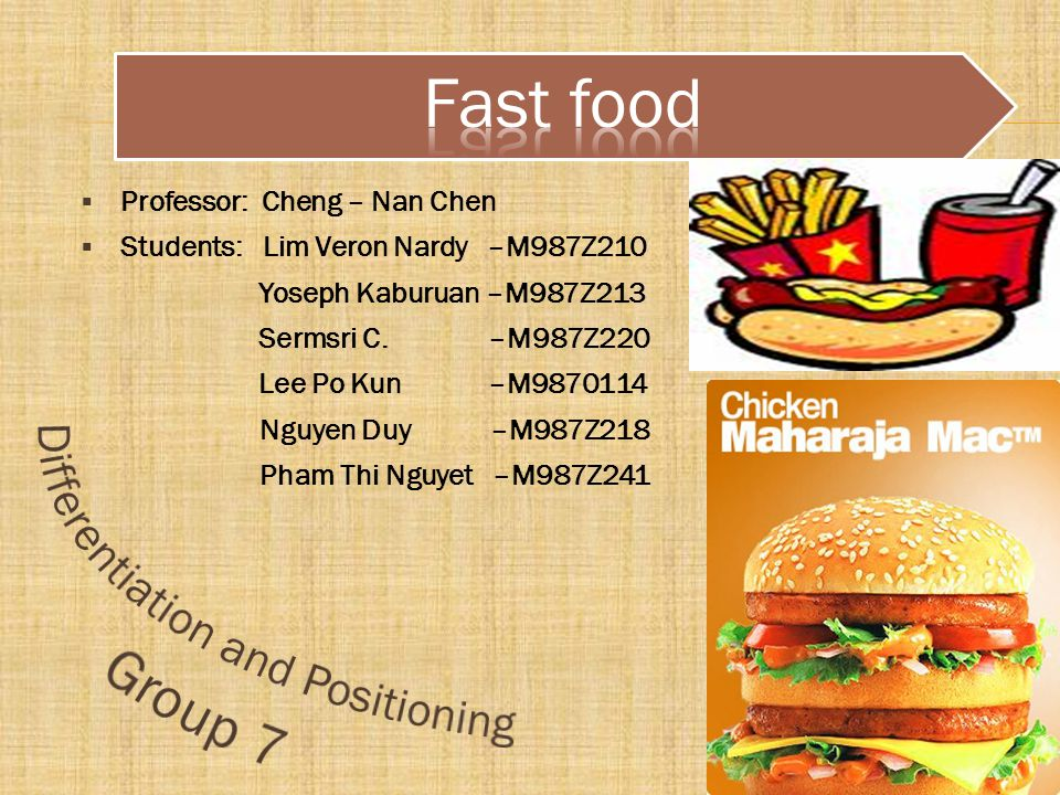 macro and micro environmental factors of a fast food chain This ppt contains marketing environment of the coca cola company  that it will provide coke to all the fast food chains located in us  macro environment 3 .