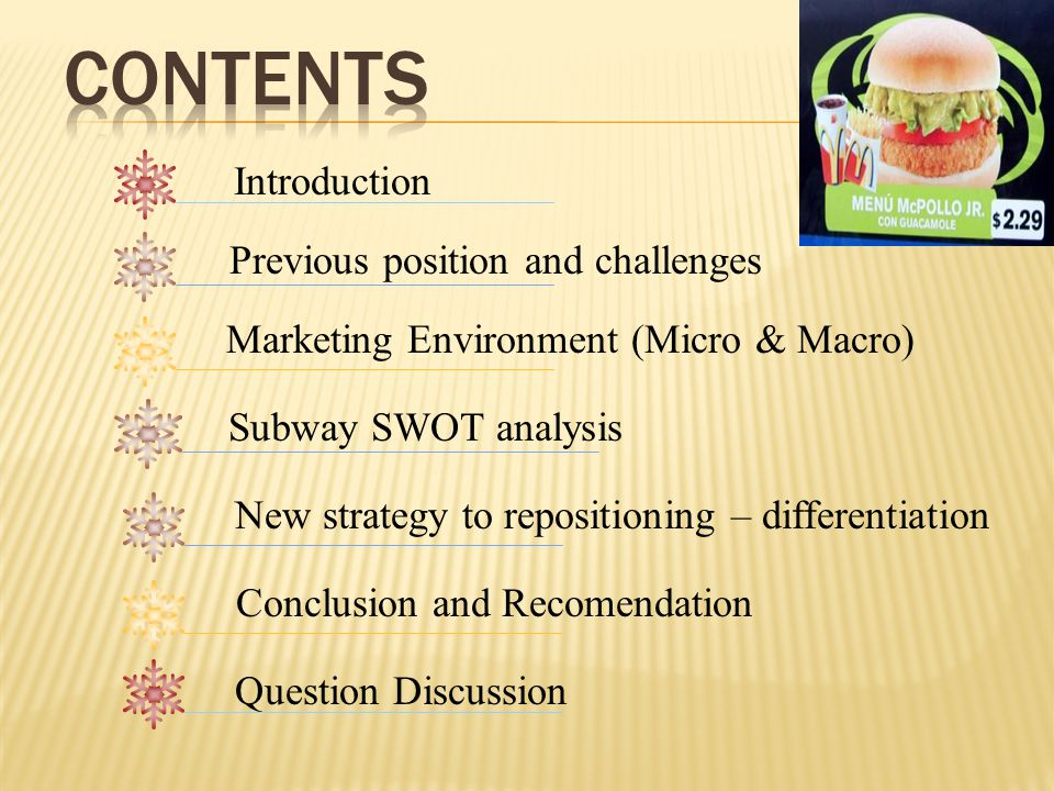 subway weakness Find free swot analysis for subway and read swot analysis for over 40,000+ companies and industries detailed reports with strength, weaknesses, opportunities, threats for free.