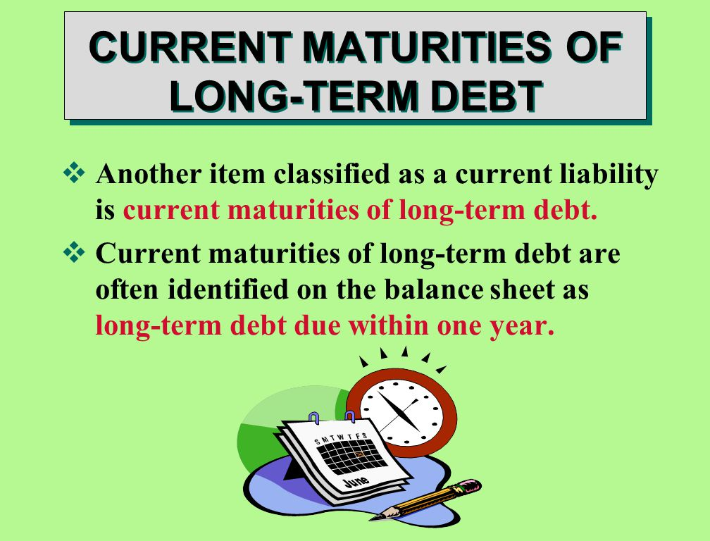 Current maturity of long term debt