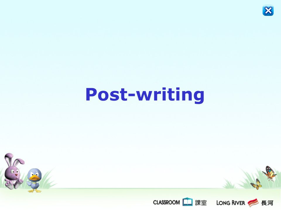 Post-writing