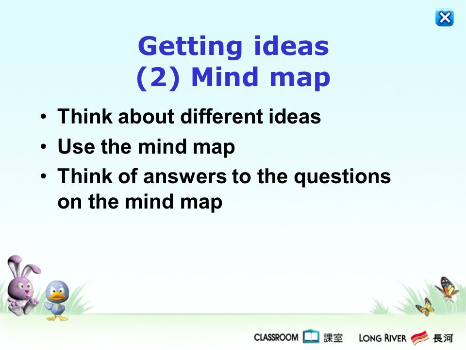 Getting ideas (2) Mind map