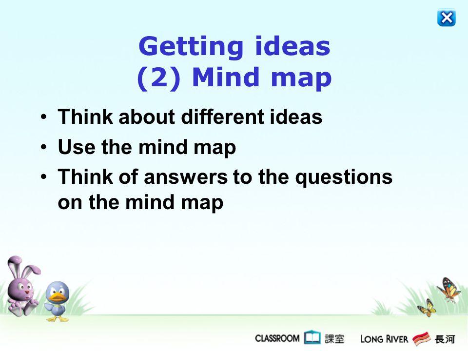 Getting ideas (2) Mind map
