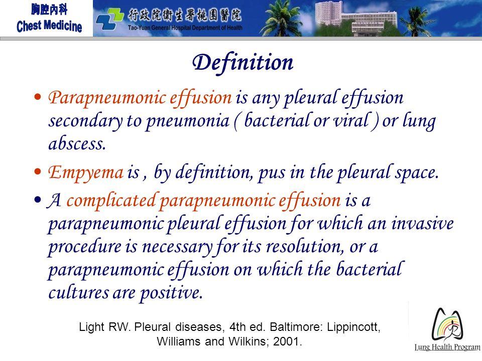 5 Definition Parapneumonic Effusion ...