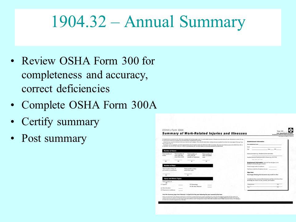 Osha Form 300a Worksheet - jannatulduniya.com