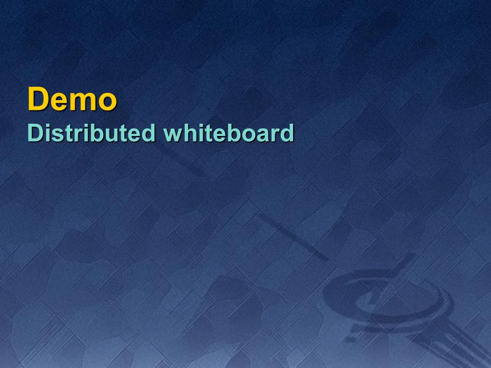 Demo Distributed whiteboard