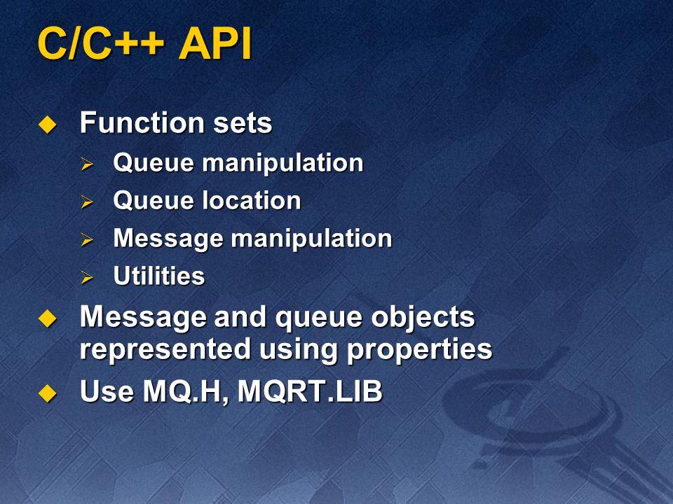 C/C++ API Function sets