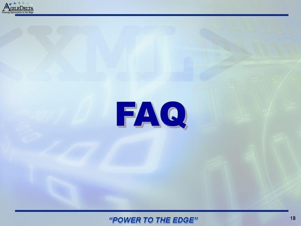 FAQ POWER TO THE EDGE