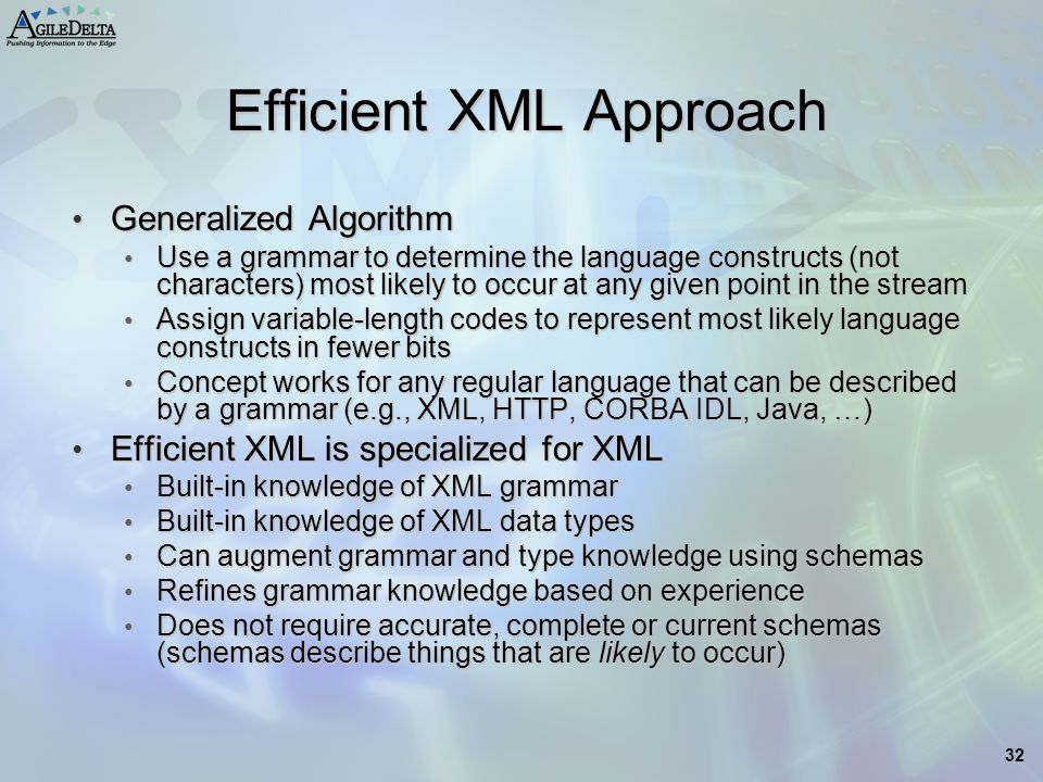 Efficient XML Approach