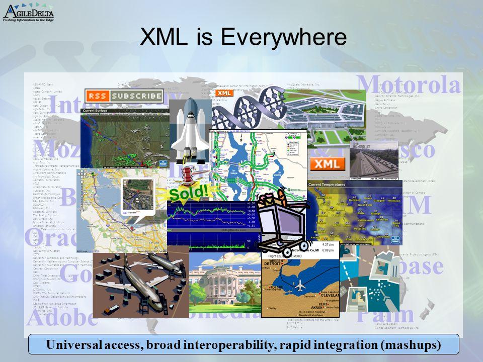 Universal access, broad interoperability, rapid integration (mashups)