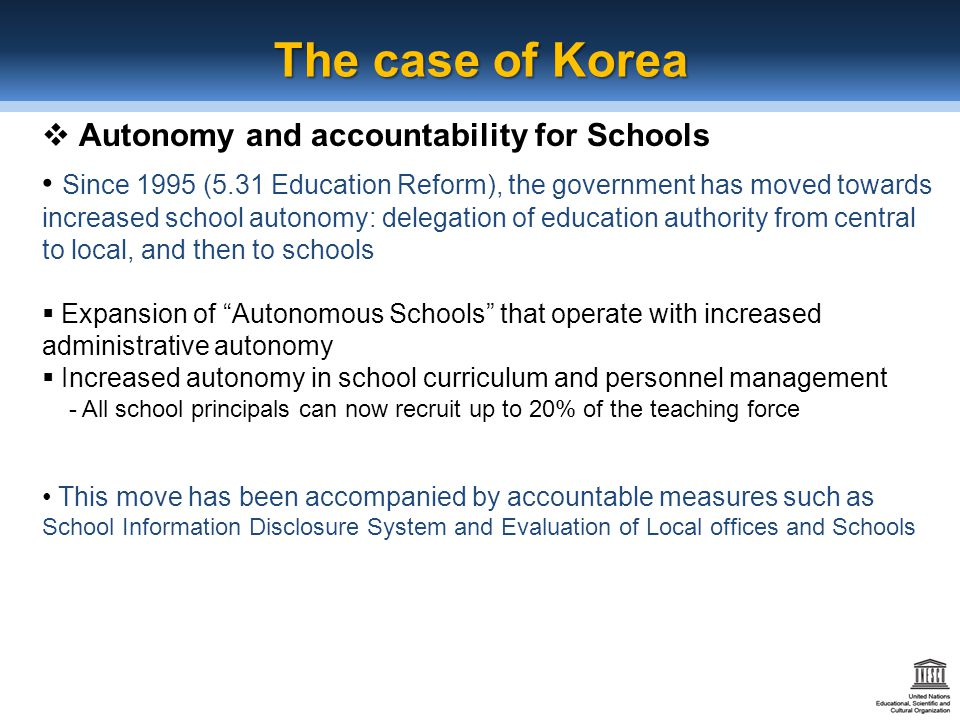 The importance of accountability in the educational system