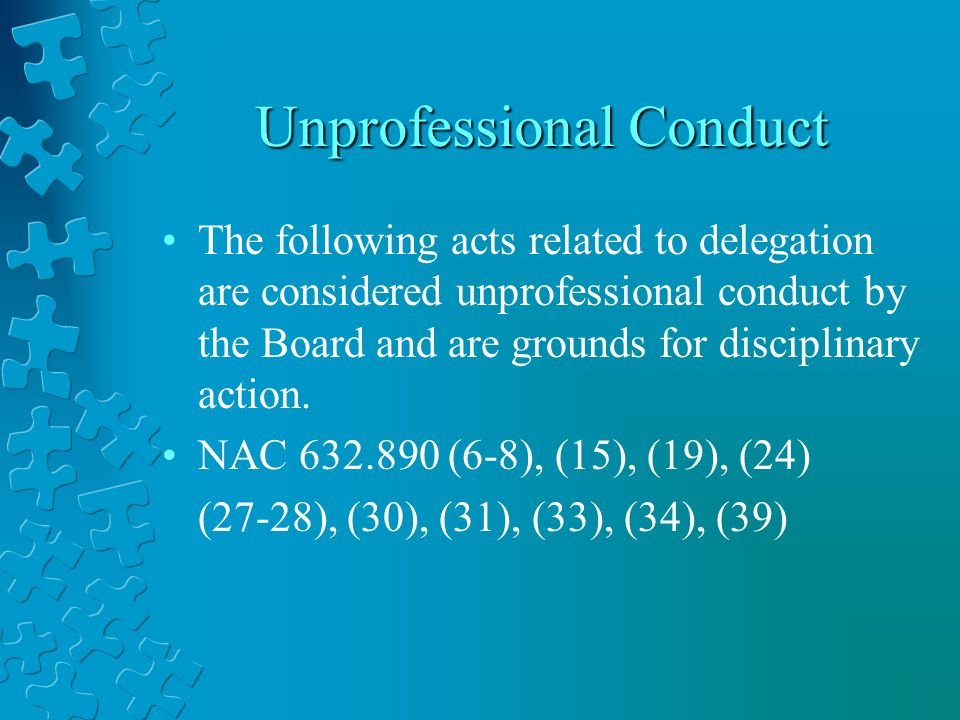 study on unprofessional conduct by a nurse How does the definition of 'unsatisfactory professional conduct' apply to the case study and why was the nurse or midwife in the case assessed the conduct pathwaythe definition of 'unsatisfactory professional conduct' as applied to the case study is conduct that considerably is below rational average.