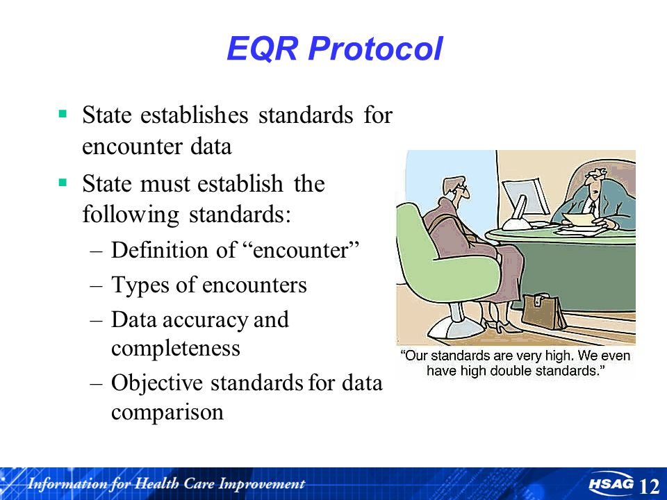 EQR Protocol State establishes standards for encounter data