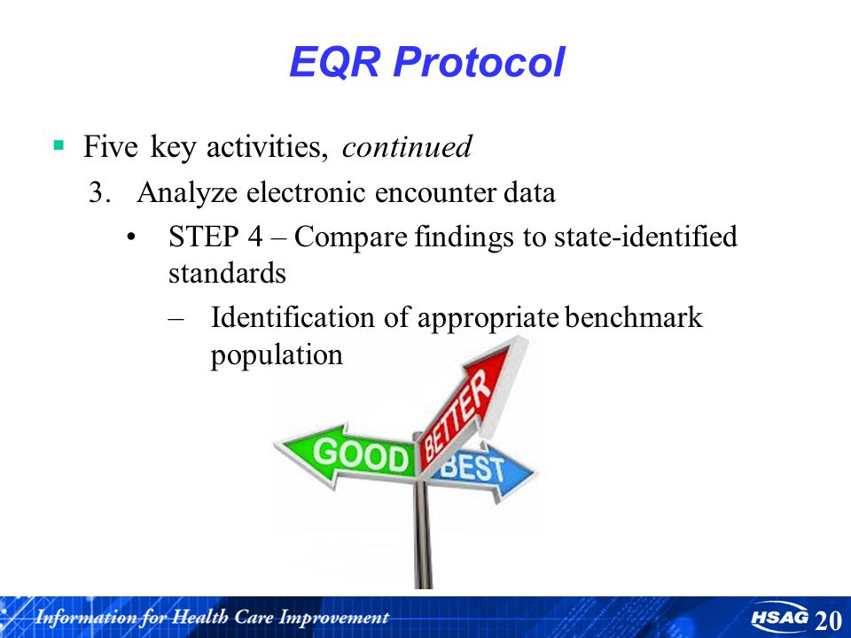 EQR Protocol Five key activities, continued