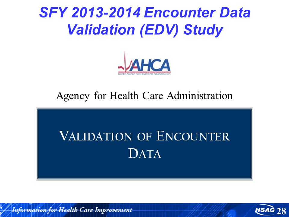 SFY Encounter Data Validation (EDV) Study