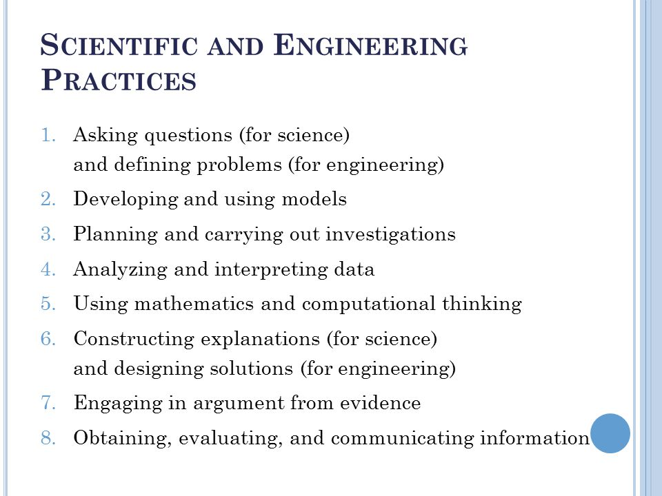 important scientific practices asking questions planning Ers of sesame street decided that stem practices were important enough that they are  planning and carrying out  the practices of asking scientific questions.