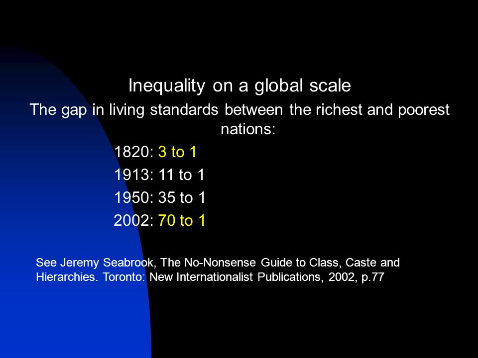 global inequalities Global inequality in the world in this article, we shall examine the issue of global inequality in the world, and overall global wealth inequality in international relations and international affairs.